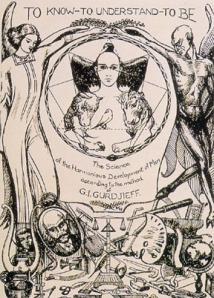 ENEAGRAMA DIBUJADO POR ALEXANDER SALZMANN:Diseño original para el programa de 1923 del Instituto para el Desarrollo Armónico del Hombre. El dibujo se hizo en Georgia - Tiflis (Tbilisi).
